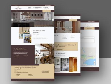Diseño de Página web de carpinteria