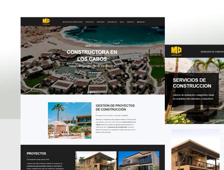 Diseño de página web para constructora
