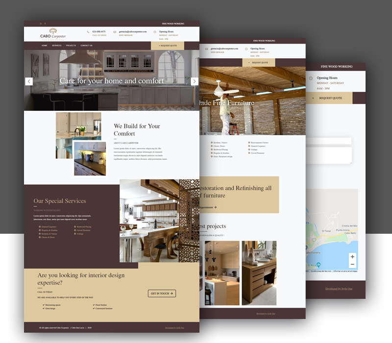 Diseño de página web de carpintería