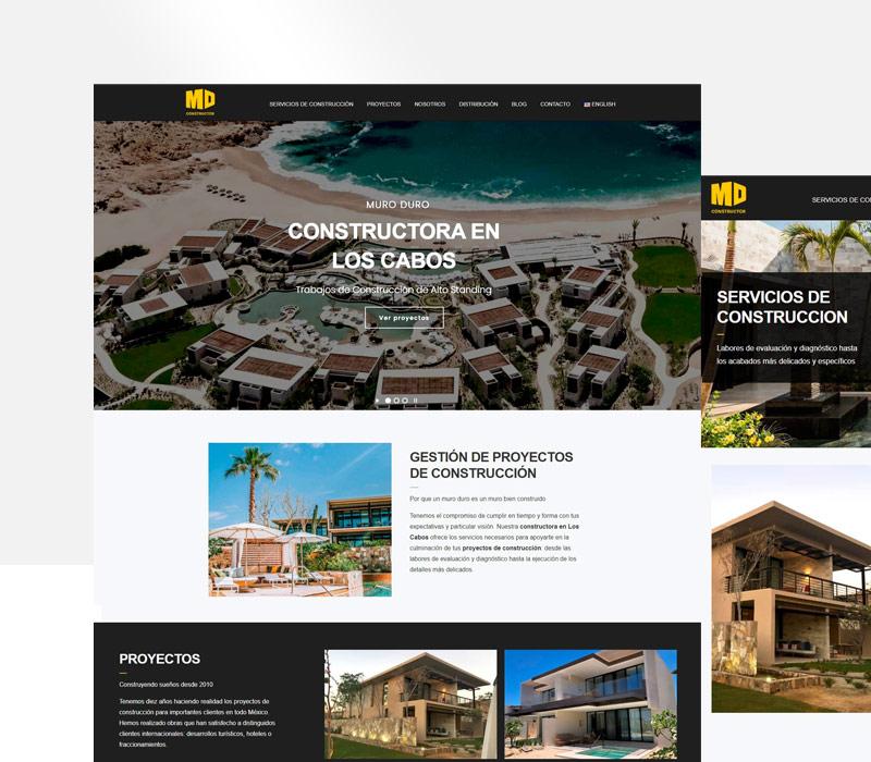 Diseño de página web de construcción