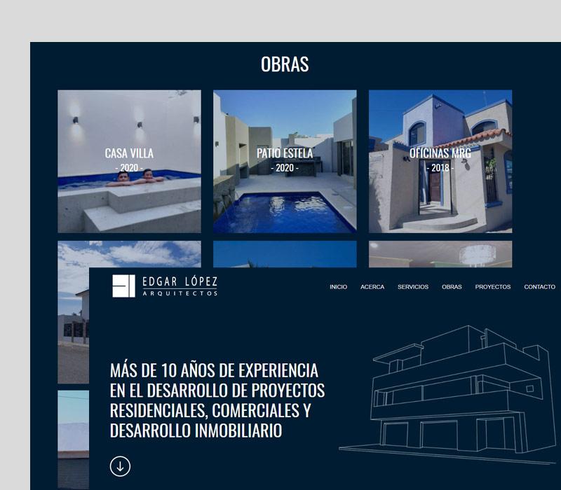 Diseño de página web para arquitectos