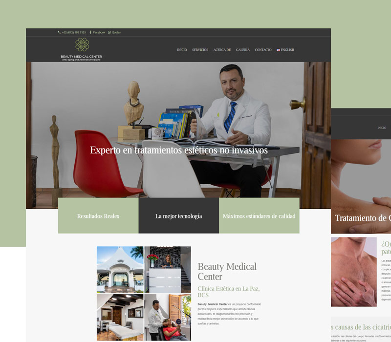 Diseño de página web para clínicas
