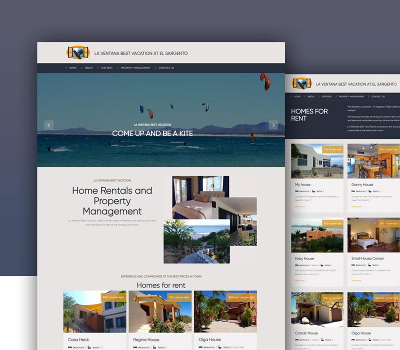 Diseño de página web de alquiler de casas vacacionales